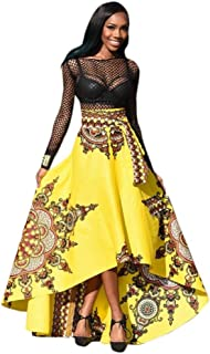 New Women's African Skirt, 2018 Fashion Boho Long Dress Beach Evening Party Maxi Dress