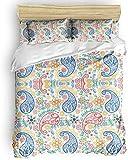 LIS HOME Bettwäscheset - Elegance Perris Pattern Trösterbezug mit Reißverschluss, Krawatten - Modernes 3-teiliges Bettwäscheset für Herren/Damen/Kinder