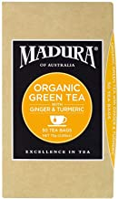 Madura Organic Green, Ginger and Tumeric 50 Tea Bags, 1 x 75 g