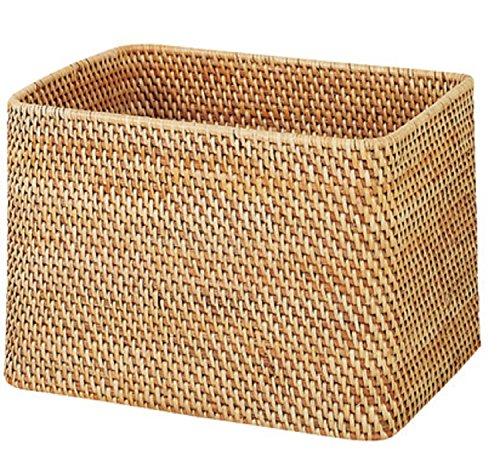 無印良品 重なるラタン長方形バスケット 幅36×奥行26cm (大)