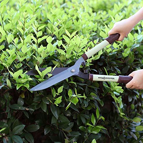 WINSLOW & ROSS Hedge Trimmer, Garden Shears Labor-Saving with Sharp Blade and Soft Rubberized Non-Slip Ergonomic Handle - Premium Garden Scissors for Tree Branch Cutter -21'