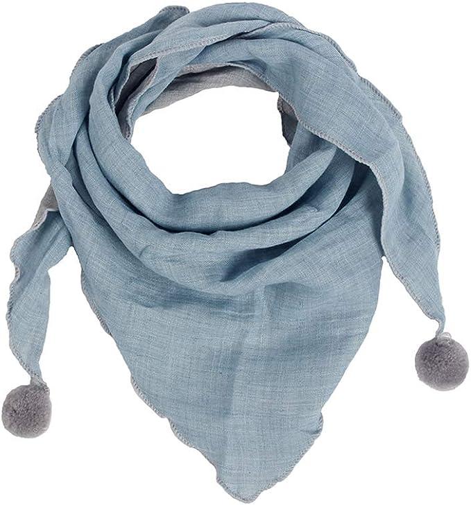 Lankater Baby-punkt-plaid-dreieck Schal Kinder Schal-kind-baumwollhalsb/änder Warm Halstuch