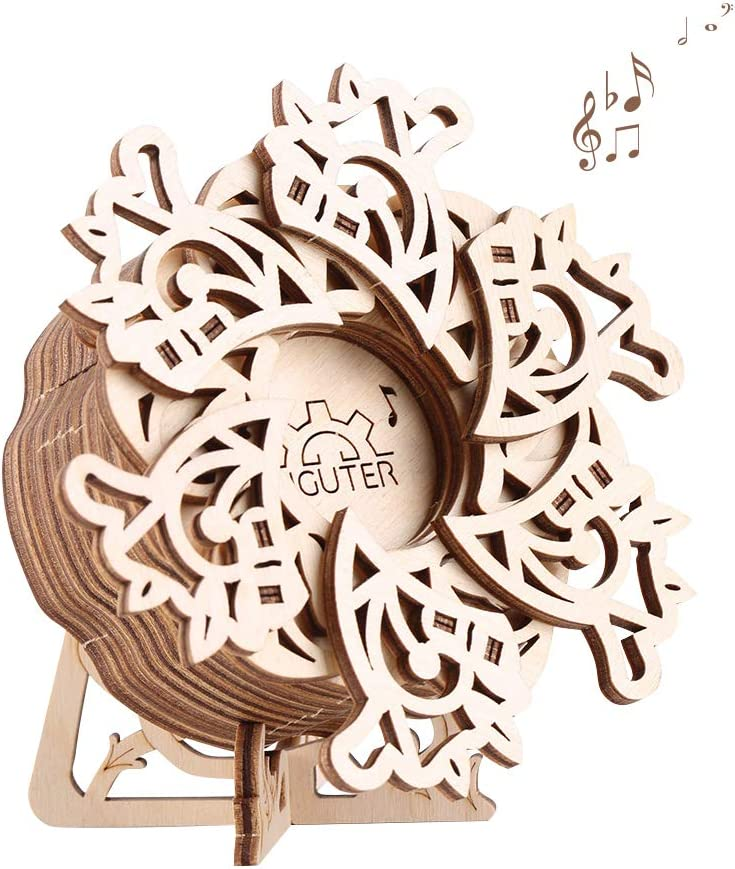 Challenge the lowest price of Japan ☆ TOYROOM Sale SALE% OFF 3D Wooden Puzzle Flower Mechanical Box Woode Model Music