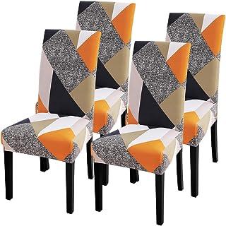 IVYSHION Funda de Silla Comedor para Ajuste Universal Extensible para Ramo de Silla Hotel Decoración de Restaurante Lavable para Ramo Casa Boda Reunión (4pcs, 5#)