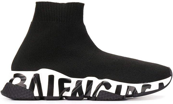 Scarpe balenciaga luxury fashion donna 605942w05ge1015 nero poliammide hi top sneakers B0876RMRFC