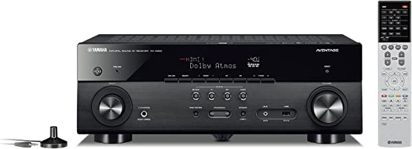 Yamaha AVENTAGE RX-A680 7.2-ch 4K Ultra HD AV Receiver with HDR, Dolby Vision, Dolby Atmos, Wi-Fi, Phono, and MusicCast - Black (Renewed)