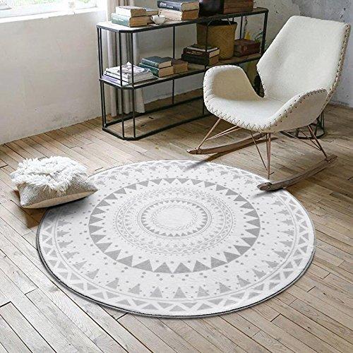 Skandinavische geometrische Formen Trendy Familie Wind Runde Teppiche Couchtisch Schlafzimmer Wohnzimmer Home Computer Stuhl Drehstuhl Teppiche, 180 * 180cm