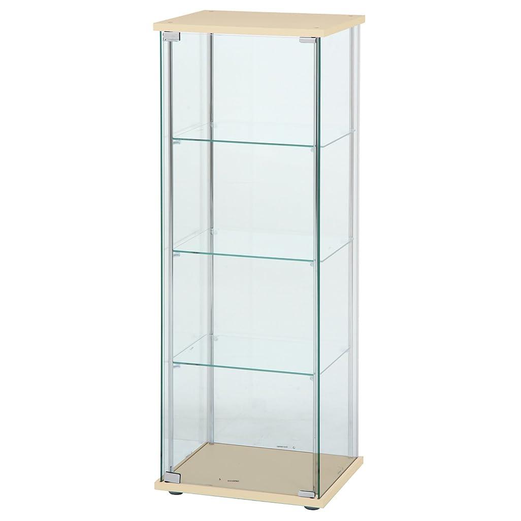 可能性分注するビジネス不二貿易 ガラスコレクションケース 4段ロータイプ 幅42.5?高さ120cm ナチュラル
