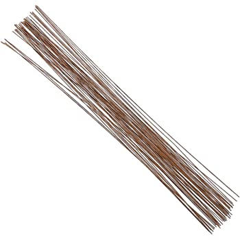 Decora 20 Gauge Brown Floral Wire 16 inch,50/Package