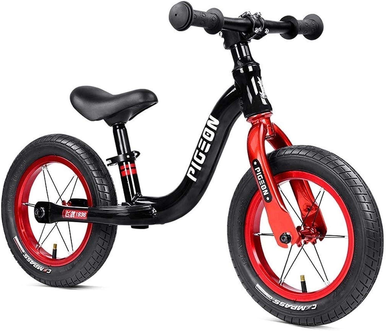 Prima Bici Bicicletta leggera da 12 pollici - Bicicletta da tuttienamento senza pedali, Bicicletta sportiva da spinta in tuttiuminio per bambini 2 3 4 5 6 anni, prima bici, pneumatici pneumatici ZHAOFENGM