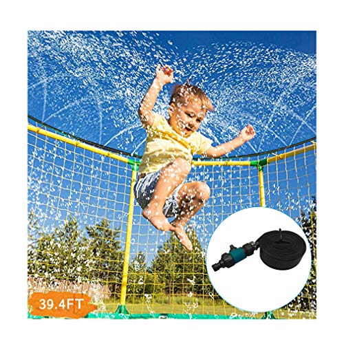 partysu Trampoline Waterpark Sprinkler Best Outdoor Summer Toys for Kids Outside 12m Trampoline Sprinkler Hose