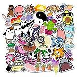 BLOUR 35/50 Uds, Impermeable, extraíble, Modelos de explosión de Amazon Ebay, Estuche de Carro de Dibujos Animados Lindo, pequeñas Pegatinas Frescas Personalizadas