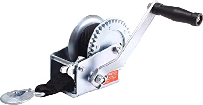 Amarite Manual Operated Hand Winch Boat Trailer Winch Hand Winch Mount 1200 lbs