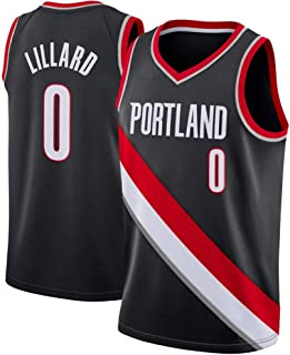 NUJO Baloncesto Masculino Jersey-Trail Blazers de Portland Lillard ...