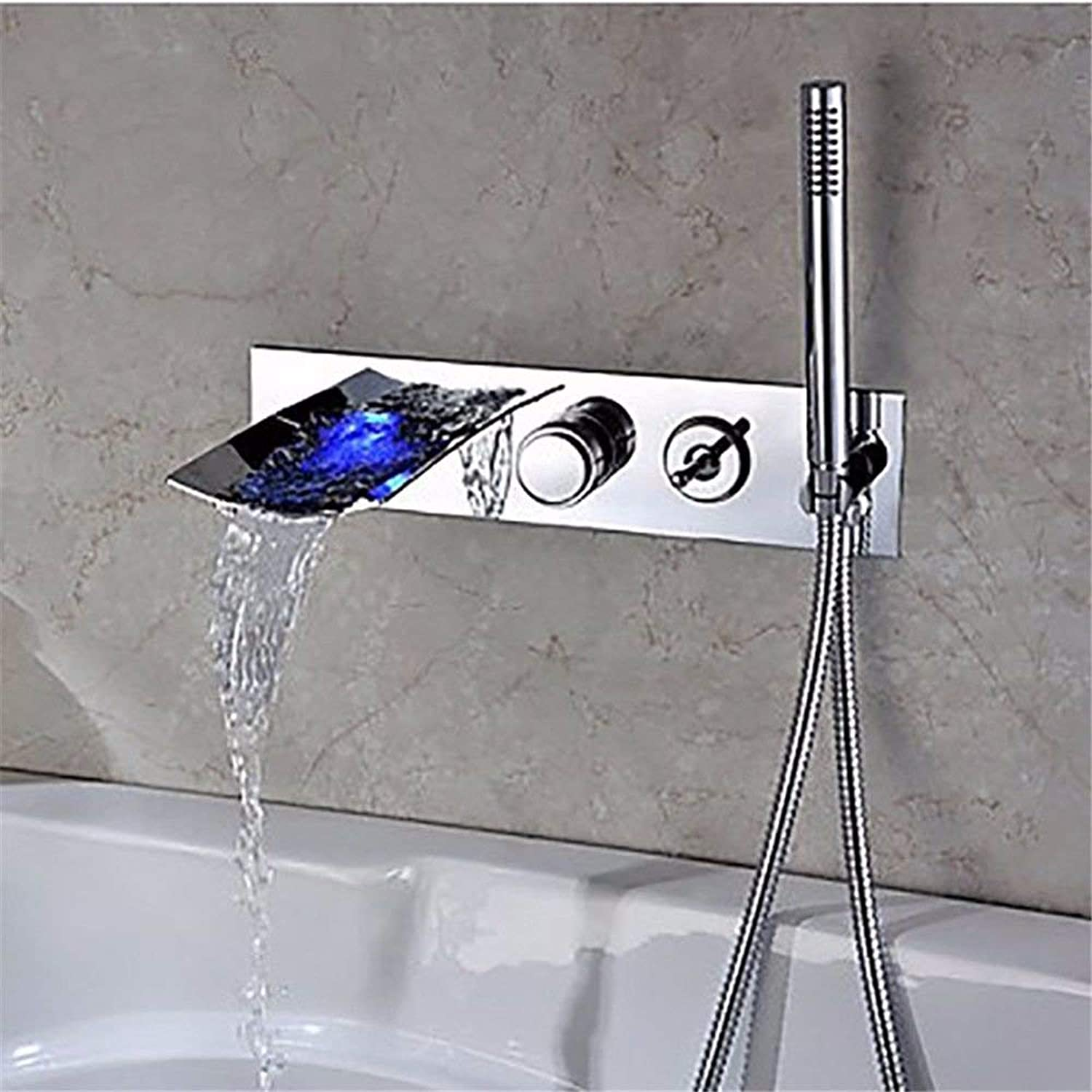Taps Kitchen Taps Basin Faucets Cold And Hot Water Mixer Bathroom Mixer Basin Mixer Tap Modern Led Shower Set Waterfall Hot And Cold Ceramic Valve Three Holes Double Handle For Kitchen Or Bathroom Tap