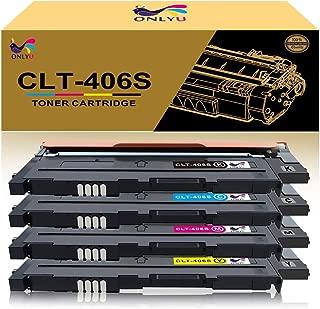 ONLYU Compatible Toner Cartridge Replacement for Samsung CLT-406S CLT-K406S CLT-C406S CLT-M406S CLT-Y406S for Samsung CLP-360 CLX-3300 CLX-3305 SL-C460FW Xpress C410W - 4 Pack