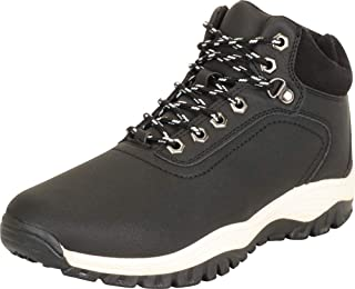 Cambridge Select Men's Lug Sole Lace-Up Padded Collar Ankle Hiking Boot