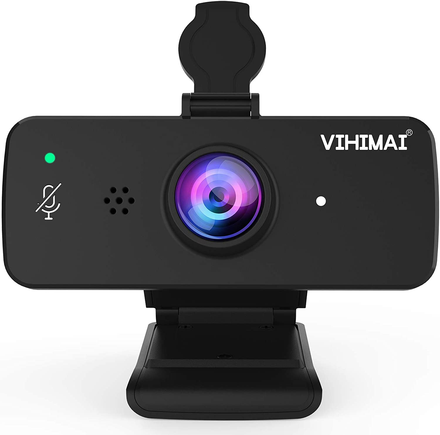 Webcam HD 1080p with Independent Microphone Mute Control Function and Privacy Cover,Notebook Desktop Video Webcam for Online Class