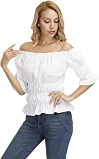 Best white peasant blouse costume Reviews