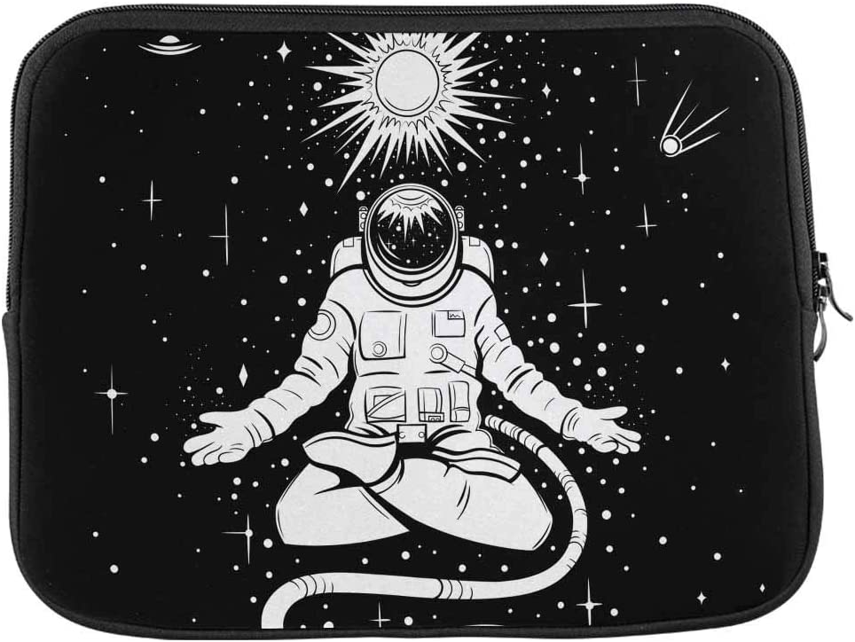 INTERESTPRINT Laptop Water Resistant Sleeve Bag Black Hole Over Star Field in Outer Space Notebook Computer Case Cover 15.4 Inch 15.6 Inch