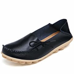 ef9b6295e53f RT Group Women s Leather Loafers Casual Shoes Moccasins Wild .