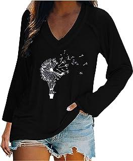 Long Sleeve Shirt Sweatshirt Women's Casual Long Sleeve Loose Long Sleeve Shirt Crew Neck Pullover Side Split Tunic Tops Tops