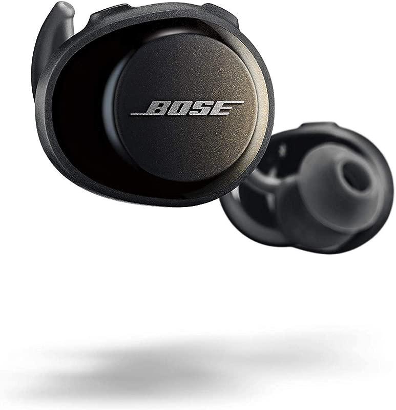 Bose SoundSport Free True Wireless Sport Headphones Sweatproof Bluetooth Headphones For Workouts Black