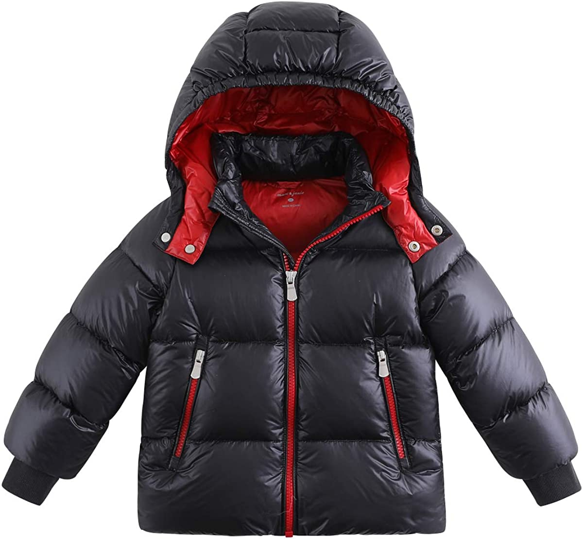 marc janie Boys' Winter Max 81% OFF Thick Selling Light Jacket Down Puffer Ultra