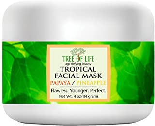 ToLB Anti Aging Tropical Facial Mask - Organic Papaya, Organic Pineapple, Organic Aloe - Skin Care Face Mask