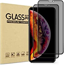 (UPDATE) Aminery Privacy Screen Protector for iPhone 11 Pro Max/iPhone Xs Max,2Pcs (Full-Coverage),(Case Friendly) Anti-spy Tempered Glass(Privacy iPhone 6.5'')