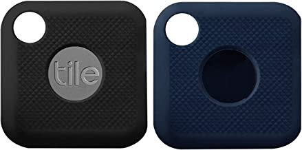 (2 Pack) Seltureone Silicone Case Compatible for New Tile Pro (2020 & 2018) with Keychain, Anti-Scratch Lightweight Soft Protective Sleeve Skin Cover (Device Not Included)-Black,Navy