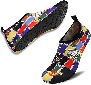 VIFUUR Unisex Quick Drying Aqua Water Shoes Pool Beach Yoga Exercise Shoes for Men Women