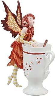 Ebros Amy Brown Autumn Apple Cider Cinnamon Tea Fairy Statue 6.25