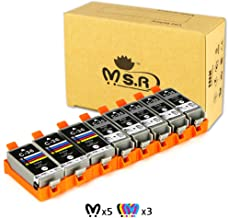 MS.R Compatible Ink Cartridge Replacement for Canon PGI-35 CLI-36, Compatible for Canon PIXMA ip110 ip100 mini260 mini320 Printer Ink Cartridges (5 Black, 3 Color)