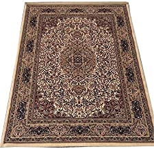 Carpet for Living Room and Bedroom and Home Traditional Carpet 6 x 9 Feet Ivory