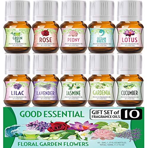 Floral Ocean Gardens Good Essential Fragrance Oil Set (Pack of 10) 5ml...