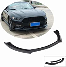 MCARCAR KIT Front Bumper Lip fits Ford Mustang GT Coupe Convertible 2015-2017 | Add-on Painted ABS Chin Spoiler Splitter Protector 3pcs (Gloss Black)