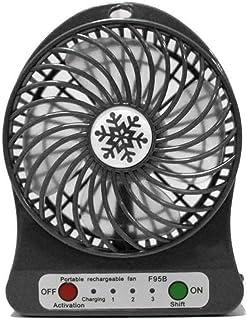 Benkeg LED Light Fan Electric Air Cooler Mini Desk USB Fan Fashion Hobbies Desk Personal Fan 3 Speed Mode Flexible Ventila...
