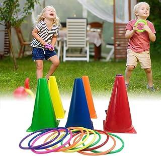 MZY1188 Set di Giochi Ring Toss Giochi interattivi per Bambini Gioco di Lancio della Famiglia allaperto Gioco di Lancio Multicolore