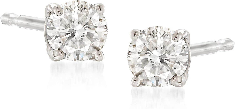 Ross-Simons 0.15 ct. t.w. Diamond Stud Earrings in 14kt White Gold