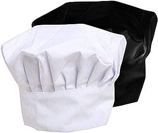 Chef Hat, Adult Adjustable Elastic Kitchen Baker Cooking Cap 9 inch High
