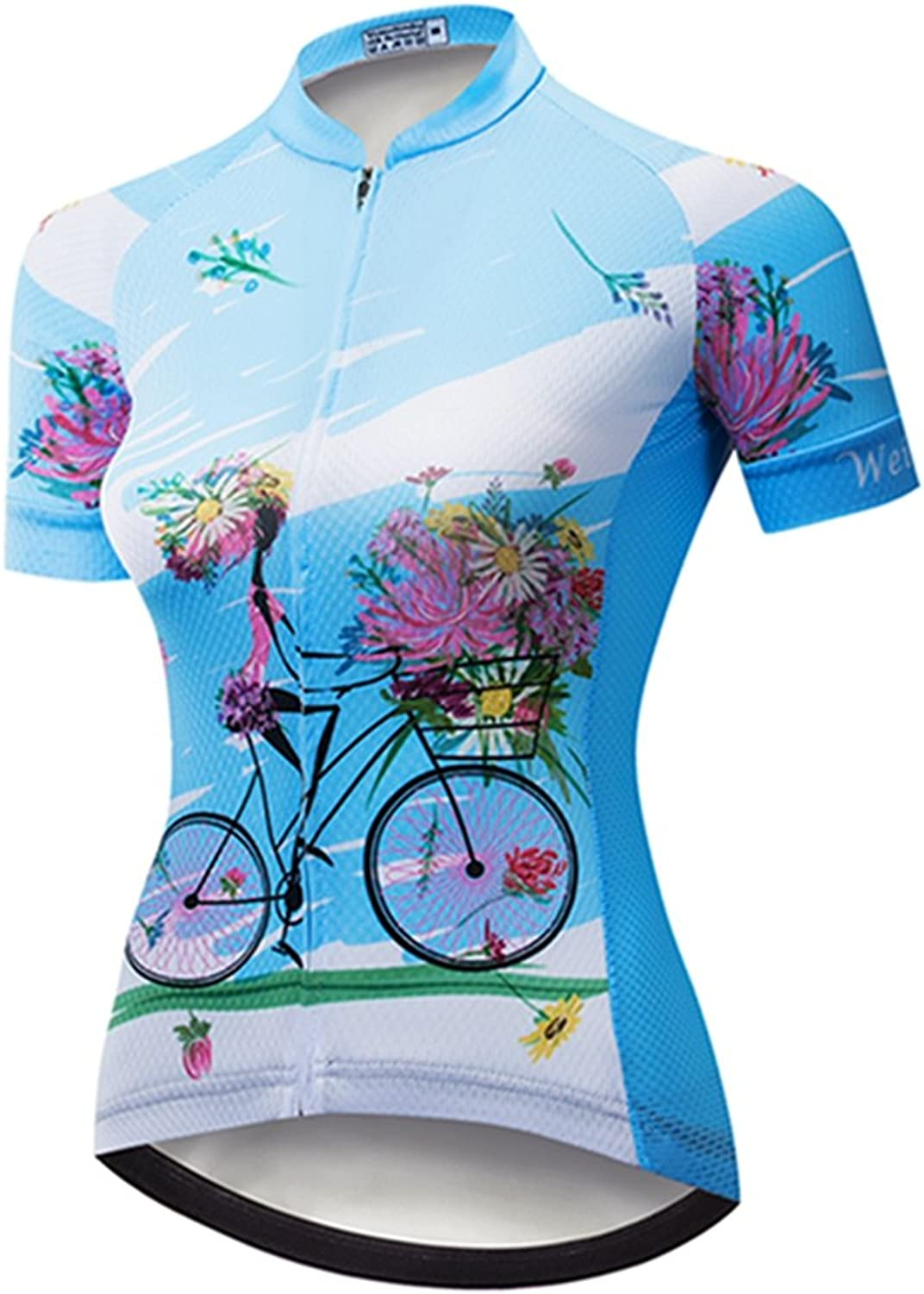 Weimostar Women's Cycling Jersey Short Sleeve Ladies Bike Shirts Bicycle Clothing