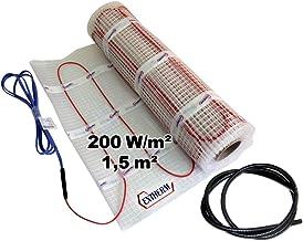 14.0m/² Kit /Élite de Tapis de Chauffage Au Sol /Électrique de 150 W Thermostat Noir Avec /Écran Tactile Nassboards Premium Pro