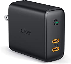$26 » USB C Charger AUKEY 36W Fast Charger USB C Wall Charger with Power Delivery 3.0 & Dynamic Detect, PD Charger for iPhone 11 Pro Max, Google Pixel 3 XL, MacBook, iPad Pro, Airpods Pro, and More