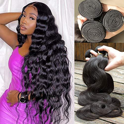 COISINI Hair 9A Brazilian Body Wave human hair 3 Bundles (10-10-10) Unprocessed Brazilian Virgin Human Hair Weave Body Wave Hair 300g Natural Color