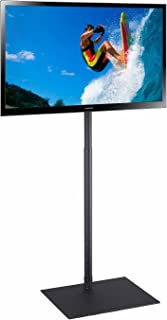"""Elitech TV Display Portable Floor Stand Height Adjustable Mount for Flat Panel LED LCD Plasma Screen 32"""" to 55"""", Movable Free-Standing Stand or Bolted on the Floor as a Fixed Stand (Renewed)"""