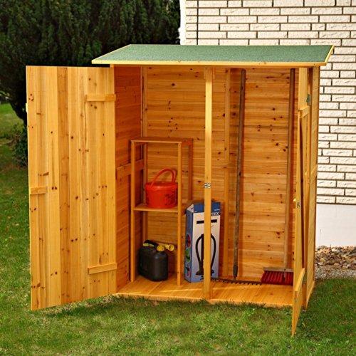 Melko Gerätehaus XXL Geräteschrank Geräteschuppen Gartenschrank, aus Holz, braun, 162 x 140 x 75 cm - 5