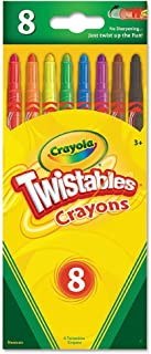 Twistable Crayons, 8 Traditional Colors/Set, Total 12 Sets