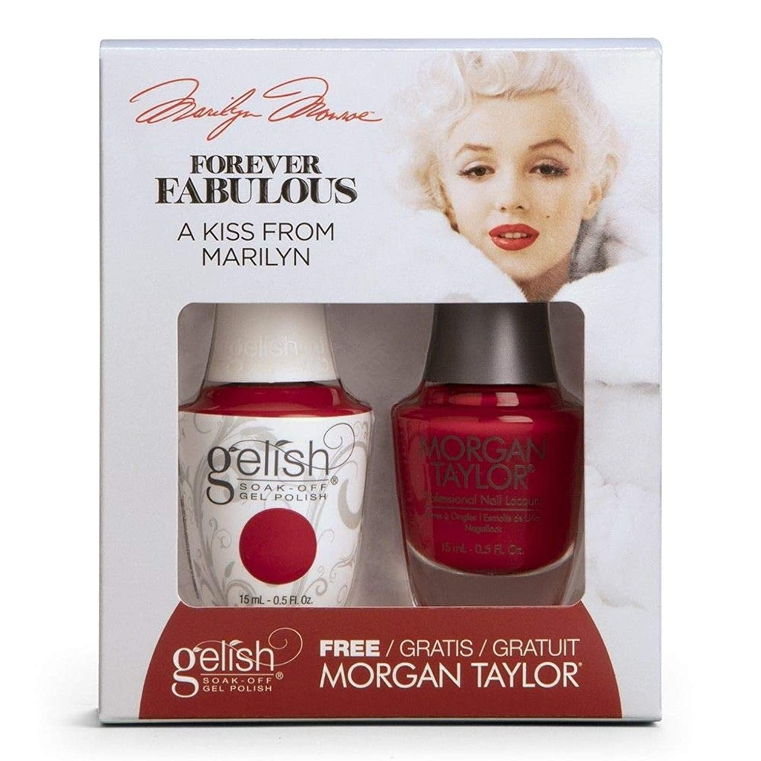 欠伸一回帰るHarmony Gelish & Morgan Taylor - Two Of A Kind - Forever Fabulous Marilyn Monroe - A Kiss From Marilyn - 15 mL / 0.5 Oz