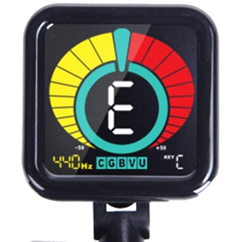 Crescendo ZenTuner Clip On Tuner, for Acoustic, Electric Guitar, Bass, Violin,